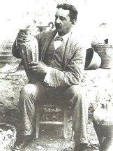 Sir Arthur Evans, the archaeologist who worked at Knossos on Crete: https://www.greece-travel-secrets.com/Sir-Arthur-Evans.html