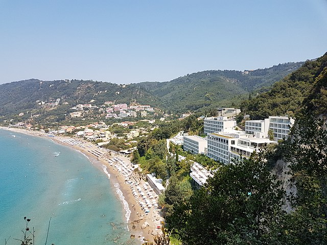 Agios Gordios beach on Corfu