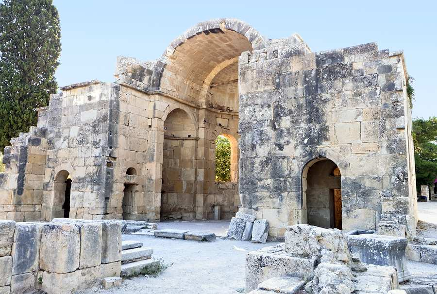 Church of Ayios Titos at the Ancient Gortina Archaeological Site in southern Crete, from https://www.greece-travel-secrets.com/Gortina.html