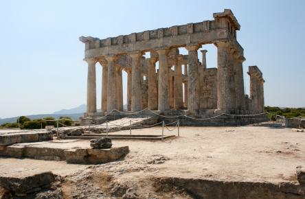 Aegina in the Saronic Gulf Islands of Greece, near Athens: https://www.greece-travel-secrets.com/Aegina.html