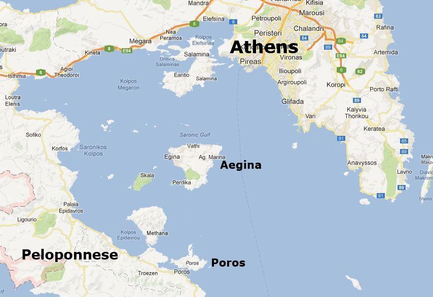 Aegina In The Saronic Gulf Islands Of Greece