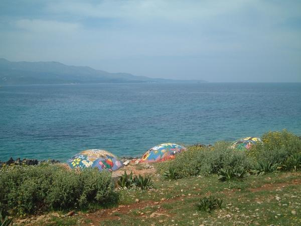 Painted War Bunkers in Albania
