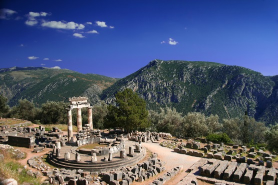 Delphi in the Central Greece and Thessaly region of Greece: http://www.greece-travel-secrets.com/Central-Greece-Thessaly.html