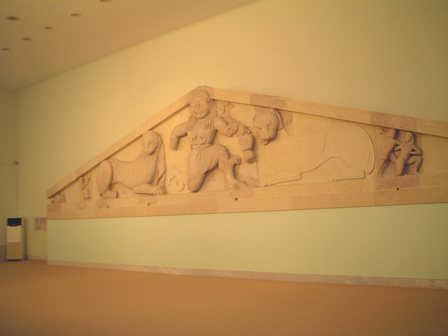 The Gorgon Frieze in the Archaeological Museum of Corfu