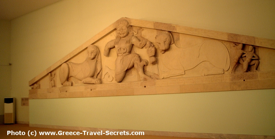 The Gorgon Frieze in the Archaeological Museum in Corfu Town