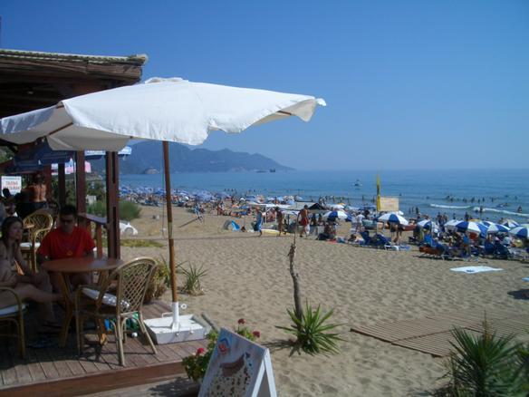 Glifada beach on Corfu