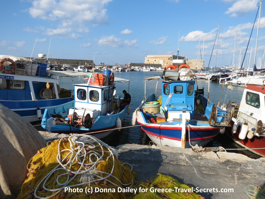 Fishing Boats in Irakleio Harbour
