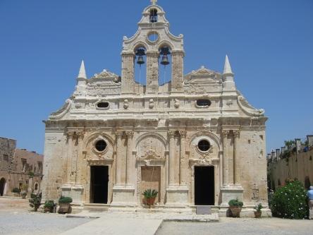 The Arkadi Monastery near Rethymnon on Crete, from http://www.greece-travel-secrets.com/Rethymnon.html