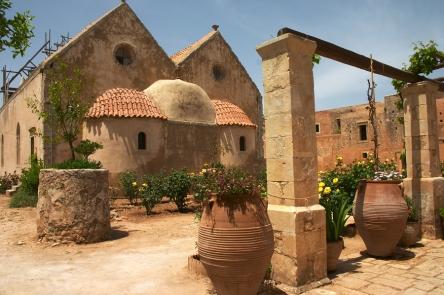 The Arkadi Monastery on Crete, Greece, from https://www.greece-travel-secrets.com/Arkadi-Monastery.html