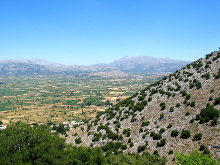 The Lasithi Plateau in Crete, from https://www.greece-travel-secrets.com/Our-Hire-Car-in-Crete.html