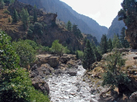 The Samaria Gorge on Crete