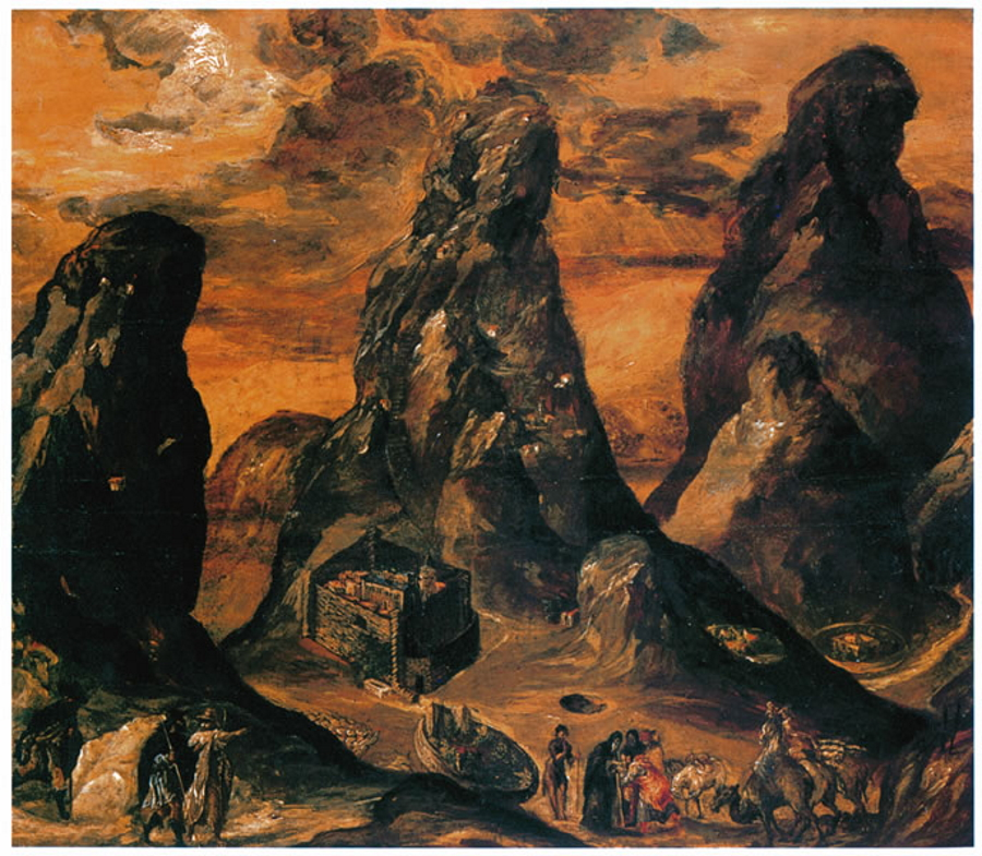 The Monastery of Saint Catherine on Mount Sinai by El Greco