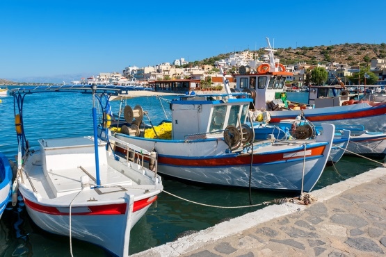 Elounda harbour on Crete, from https://www.greece-travel-secrets.com/Elounda.html