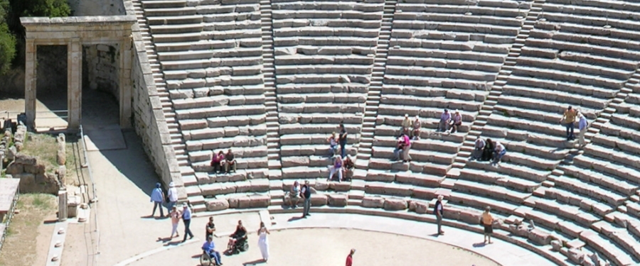 The ancient theater at Epidavros in Greece