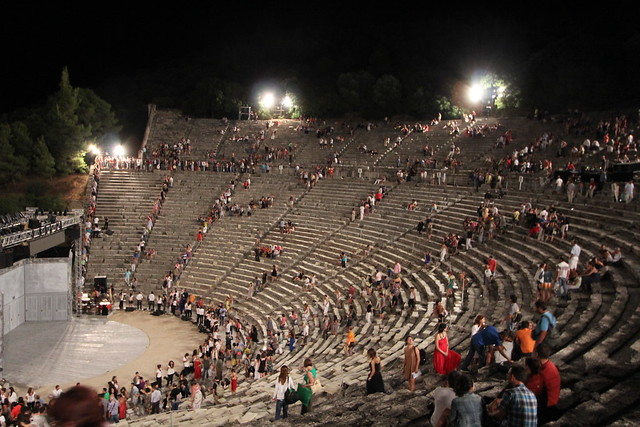 Evening performance at Epidavros