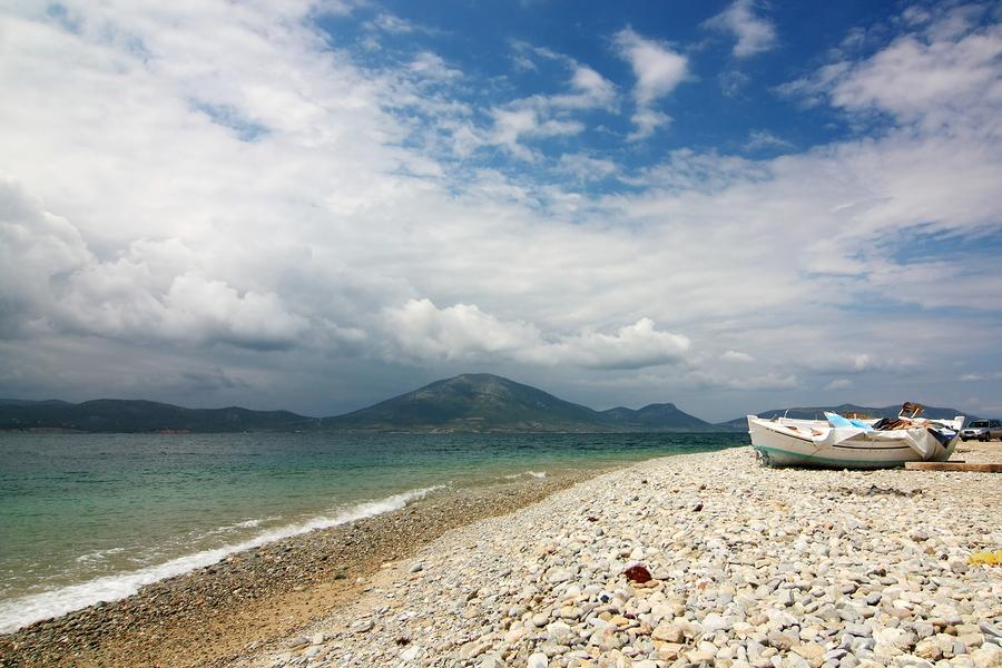 A pebble beach on Evia in Greece, http://www.greece-travel-secrets.com/Evia.html