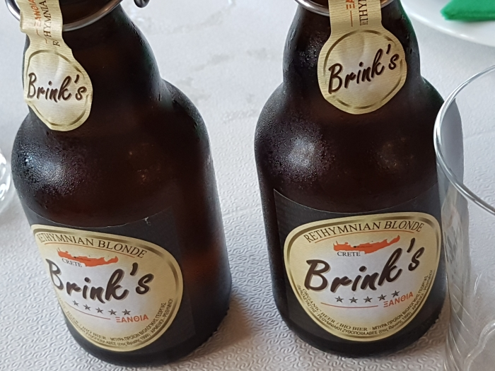 Bottles of craft beer from Crete