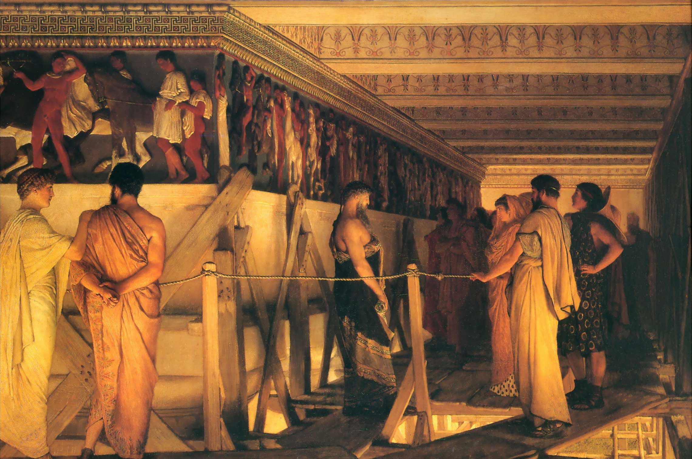 Phidias Showing the Frieze of the Parthenon to his Friends (1868) by Sir Lawrence Alma-Tadema