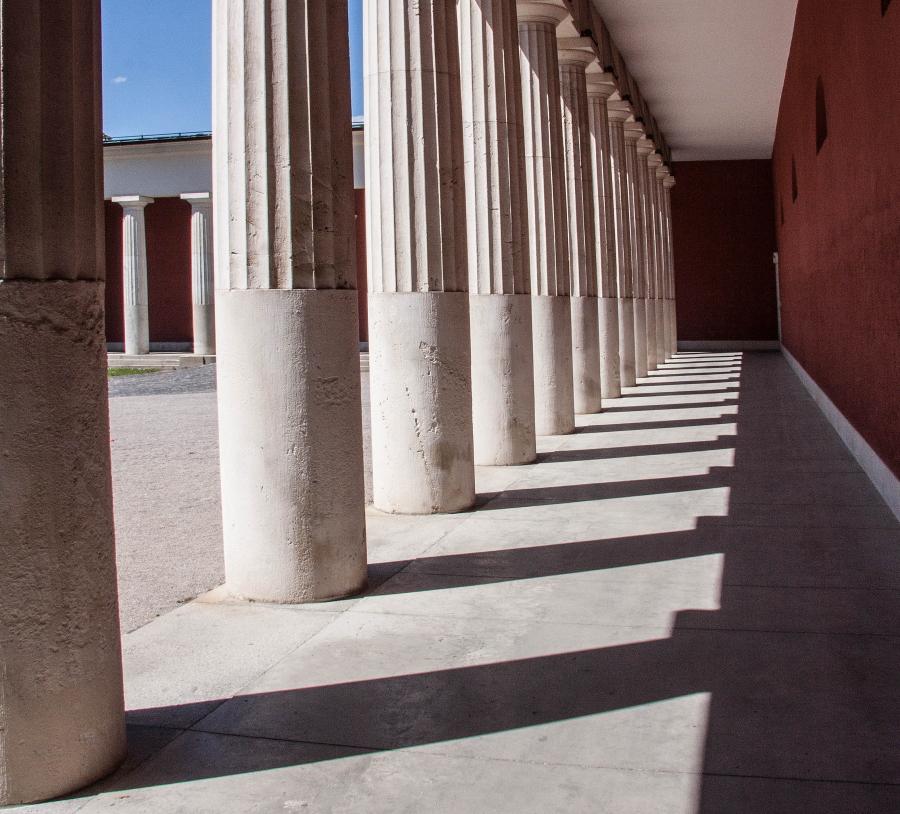 Doric columns in Greece