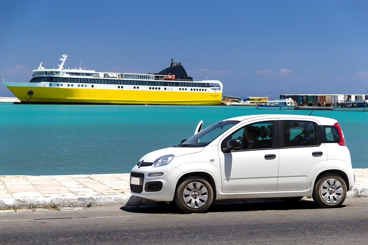 Greek rental car and ferry