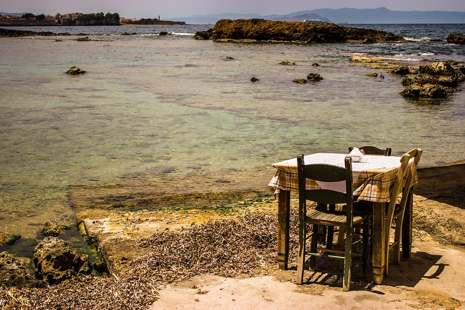 Restaurant near Chania on Crete