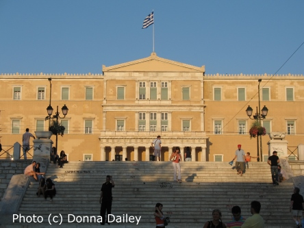 The Greek Parliament Building in Athens photographed by Donna Dailey for Greece Travel Secrets
