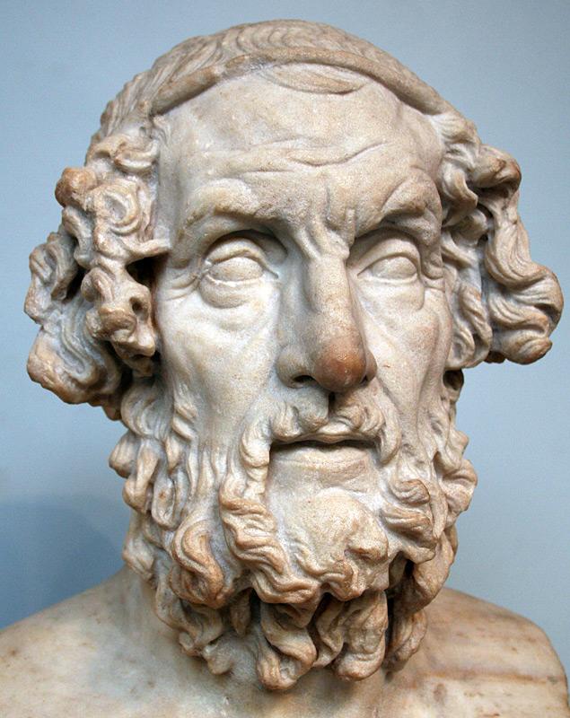 Roman bust of Homer