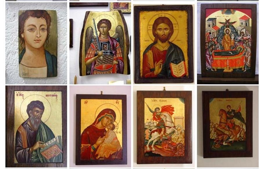Greek icon paintings