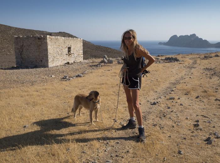 Jennifer Barclay author of Wild Abandon with her dog Lisa
