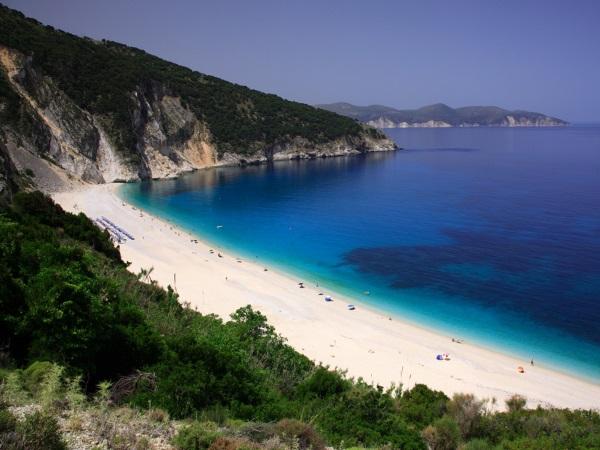 Myrtos Beach on Kefalonia