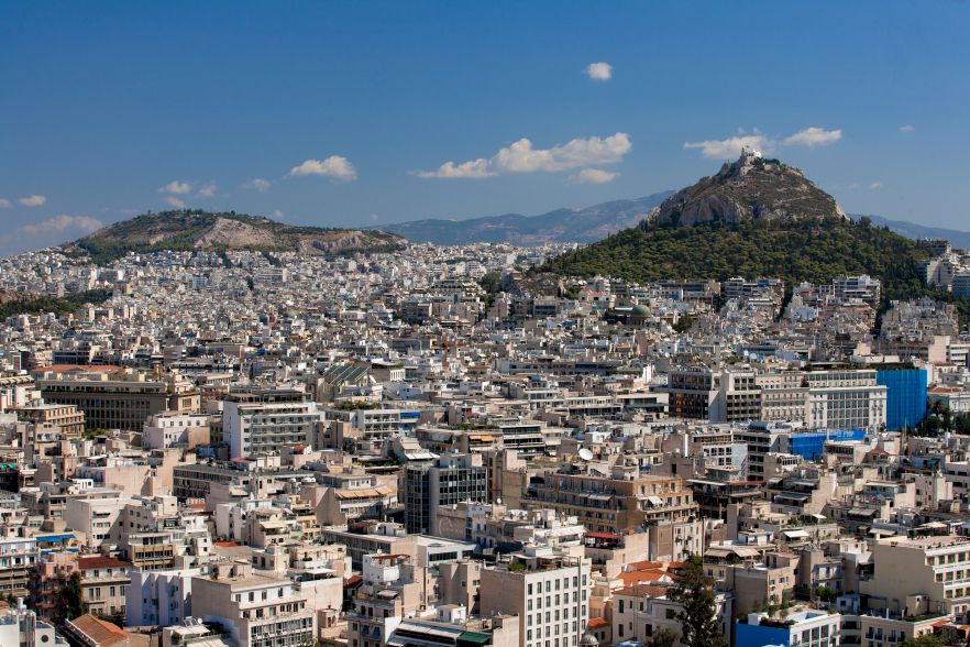 Athens, the biggest city in Greece