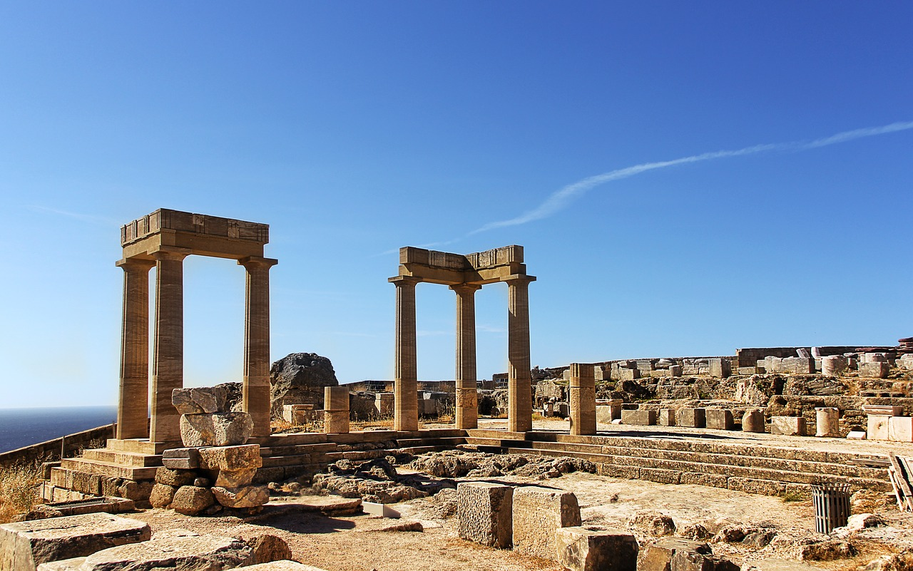The Acropolis at Lindos on Rhodes