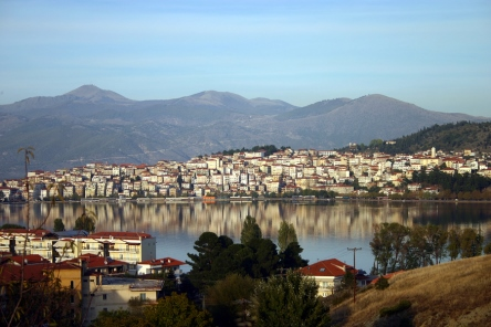 The Lakeside town of Kastoria in West Macedonia, Greece, photo appears on https://www.greece-travel-secrets.com/Kastoria.html
