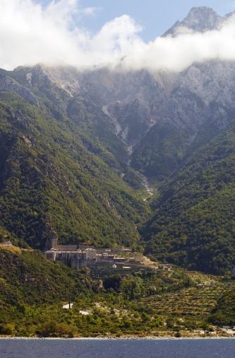 Mount Athos in Greece, pinned from https://www.greece-travel-secrets.com/Mount-Athos.html