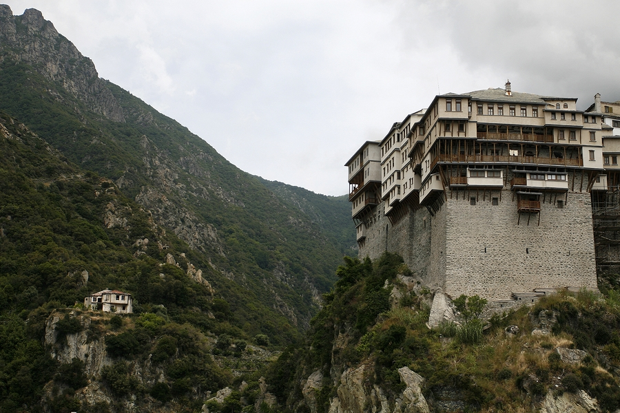 Mount Athos in Greece, pinned from https://www.greece-travel-secrets.com/Mount-Athos.html