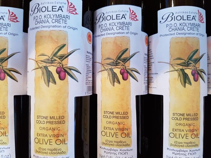 Olive-oil bottles on Crete