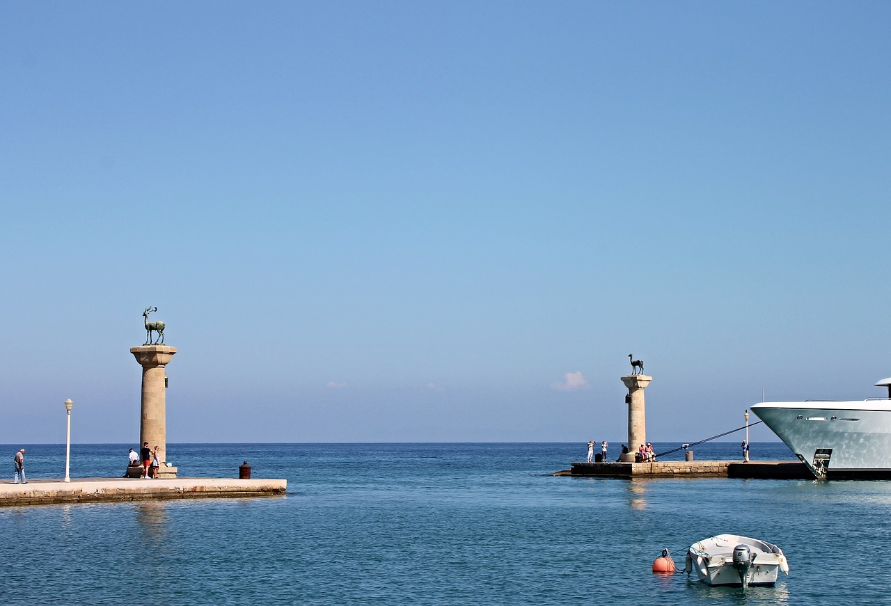 Mandraki Harbour on Rhodes