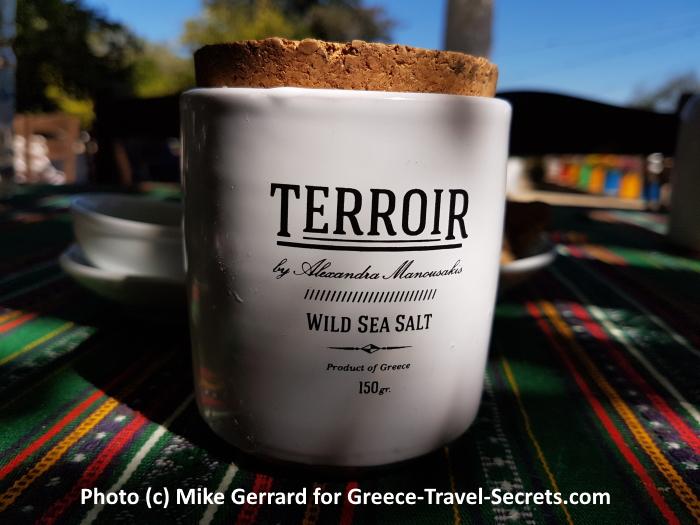 A ceramic pot of wild sea salt