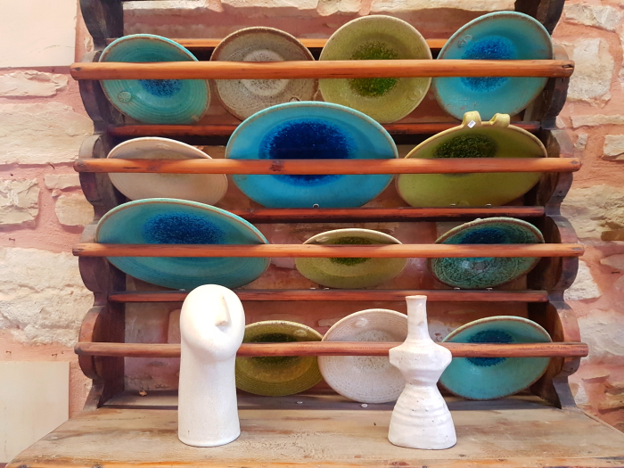 Ceramics for sale in Crete's pottery capital, Margarites.
