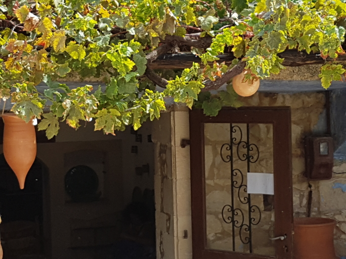 Street scene in Crete's pottery capital, Margarites.