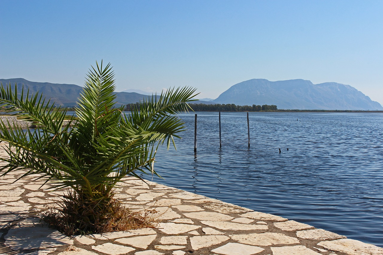 Missolonghi on the Gulf of Corinth in Greece