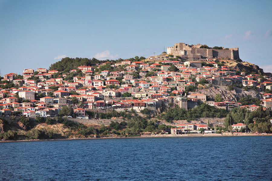Molyvos on Lesvos in the North East Aegean Islands of Greece, http://www.greece-travel-secrets.com/North-East-Aegean-Islands.html