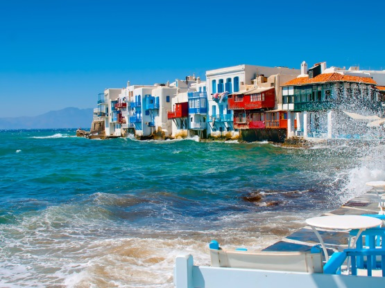 Mykonos in the Cyclades Islands of Greece, from https://www.greece-travel-secrets.com/Weddings-in-Greece.html