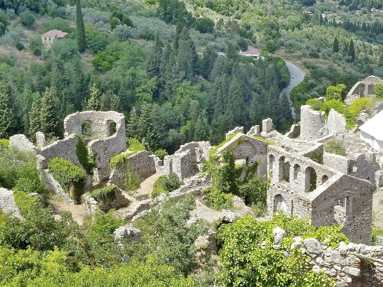 Mystra in the Peloponnese