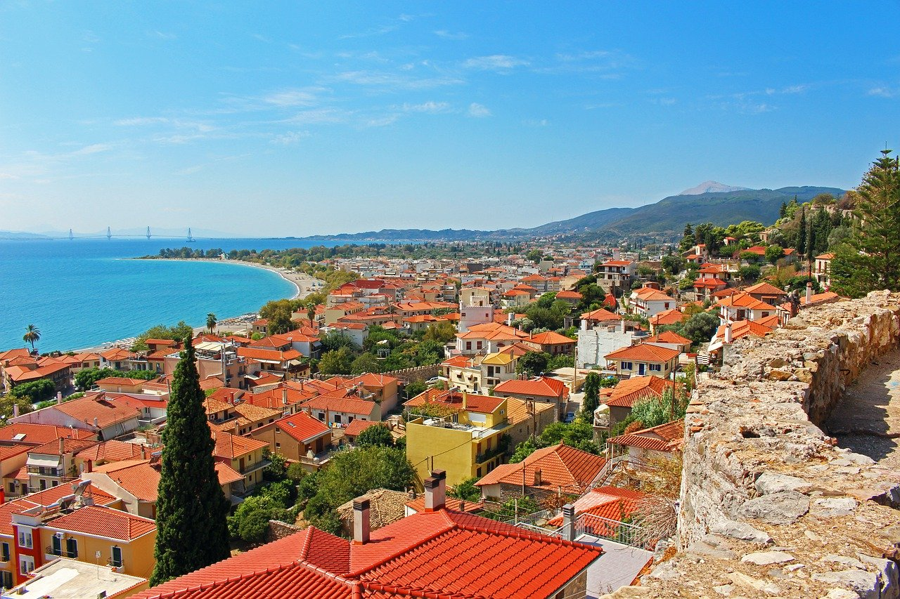 Nafpaktos on the Gulf of Corinth in Greece