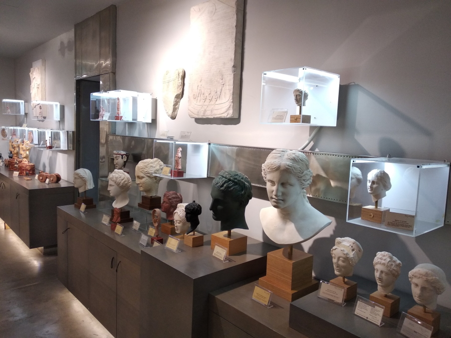 Museum shop in the basement of the National Archaeological Museum in Athens