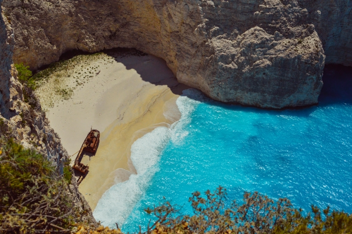 Navagio Beach (Shipwreck Beach) on Zakynthos