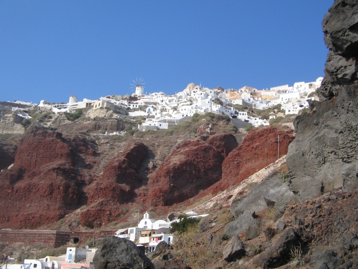 Oia on Santorini in the Cyclades Islands of Greece
