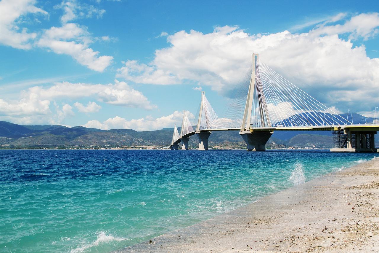Rio-Antirio bridge near Patras in Greece