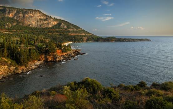 The Mani in the Peloponnese region of Greece: https://www.greece-travel-secrets.com/Peloponnese.html